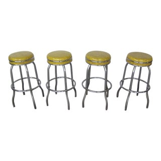Vintage 1960s Bar Stools - Set of 4 For Sale