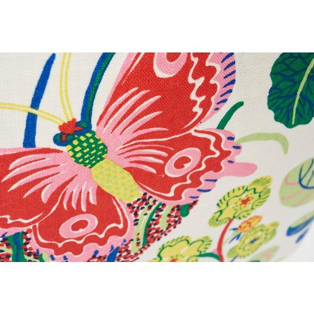 Contemporary Schumacher Pillow in Exotic Butterfly Spring Print For Sale - Image 3 of 7