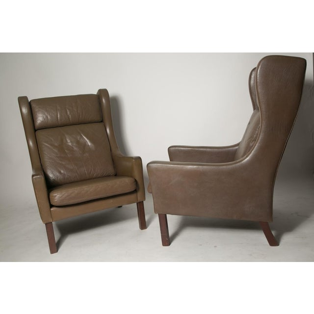 Borge Mogensen Wingback Chairs - Set of Two For Sale - Image 4 of 7