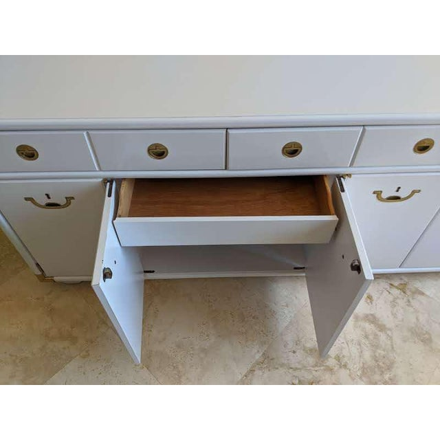 1970s 1970s Campaign Drexel Accolade White Credenza For Sale - Image 5 of 11