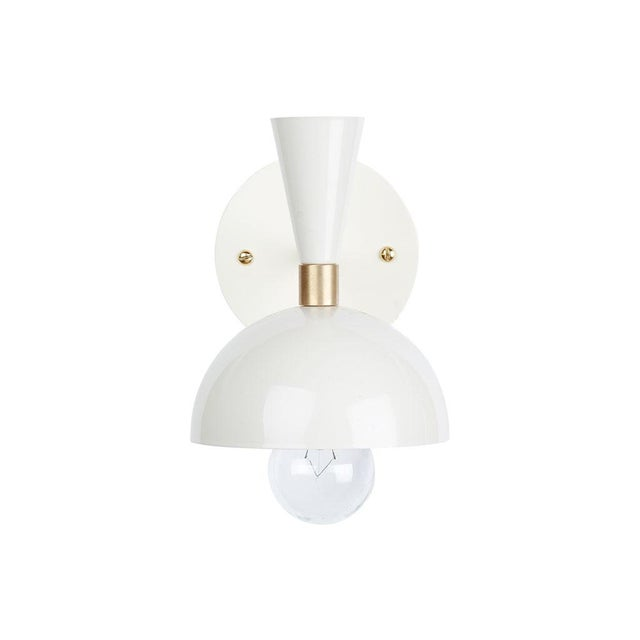 Contemporary White Cozu Wall Sconce For Sale - Image 3 of 3