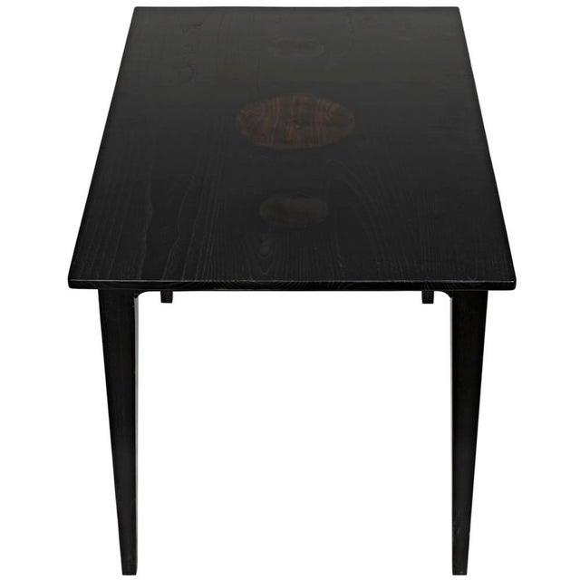Wood Charcoal Black Daphne Writing Desk For Sale - Image 7 of 9