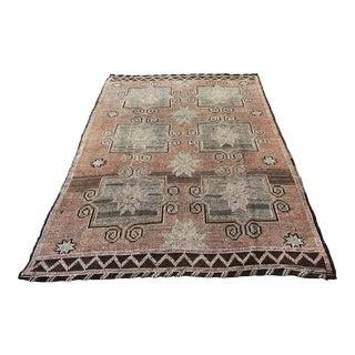 Faded Turkish Antique Anatolian Tribal Kilim Rug - 6′6″ × 9′10″