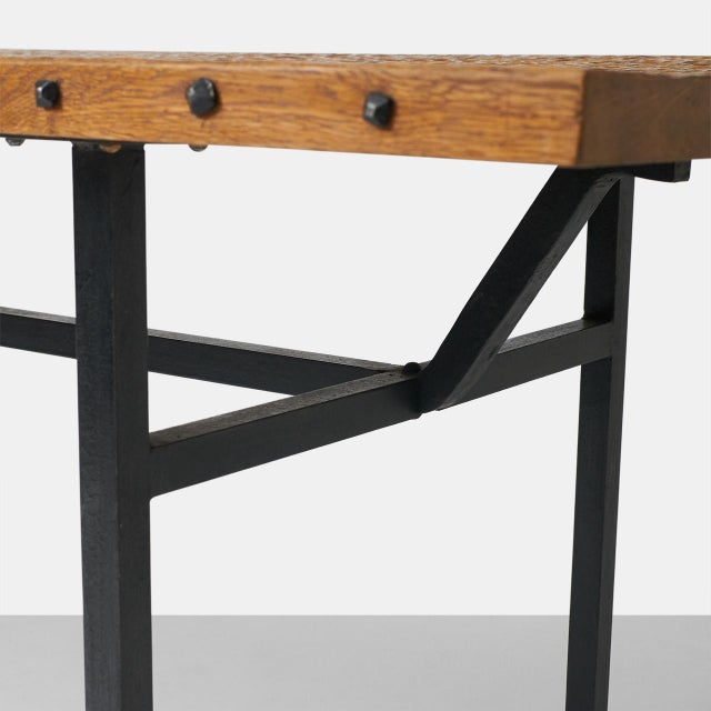 French Jean Touret Dining Table for Atelier Marolles For Sale - Image 3 of 7