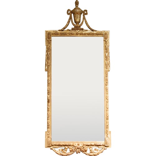 Large Italian Neoclassical Gilt Wood Mirror For Sale - Image 11 of 11