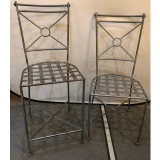 Six Art Deco Style Menardi Stamped Stools Preview