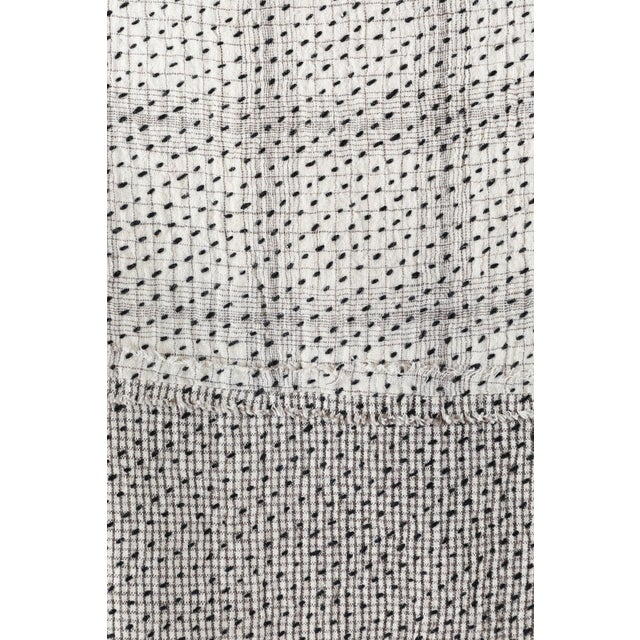 Chindi Indian Kantha Stitch Quilted Bedcover For Sale - Image 4 of 10