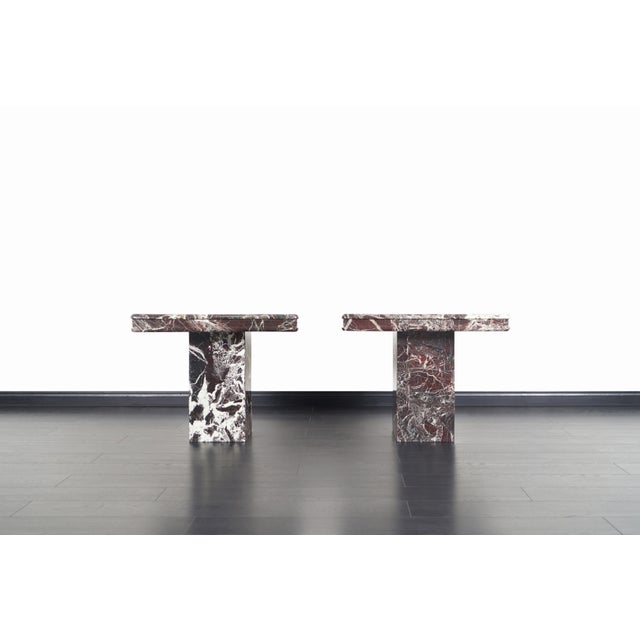 Vintage Italian Marble Side Tables - a Pair For Sale - Image 4 of 11