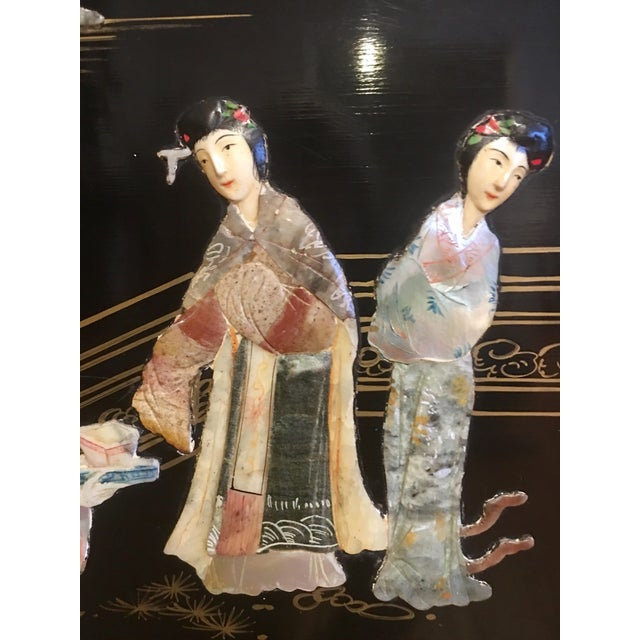 Asian Chinoiserie Wall Art With Semi Precious Stones For Sale - Image 3 of 9