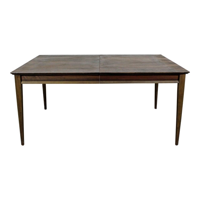 7d56dcaf77d2 Mid-Century Modern Parquet Top Walnut Dining Table For Sale
