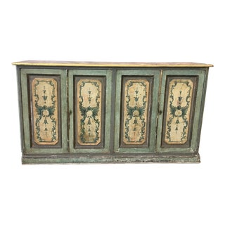 19th C. Italian Antique Painted Console Buffet