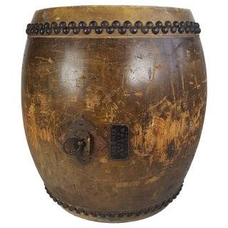 Large 19th Century Tanggu Traditional Taiko Japanese Drum For Sale
