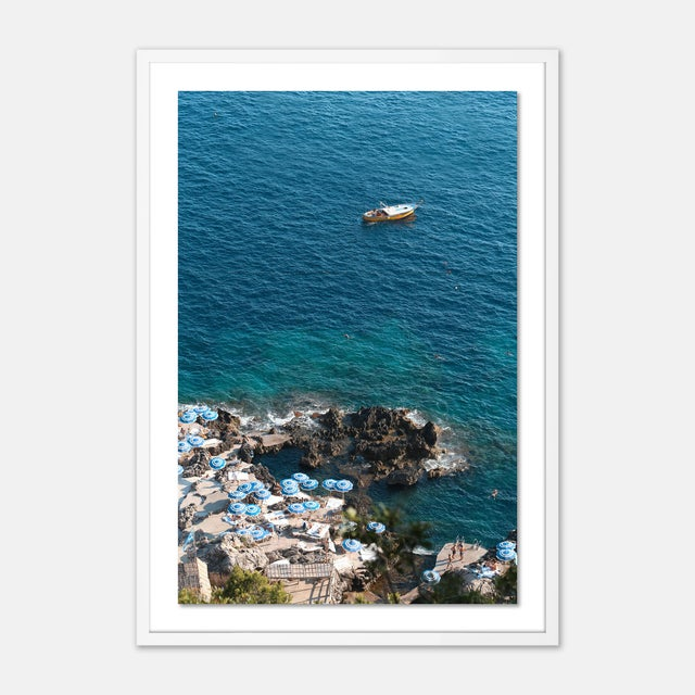 Blue Portofino Gallery Wall, set of 4 For Sale - Image 8 of 9