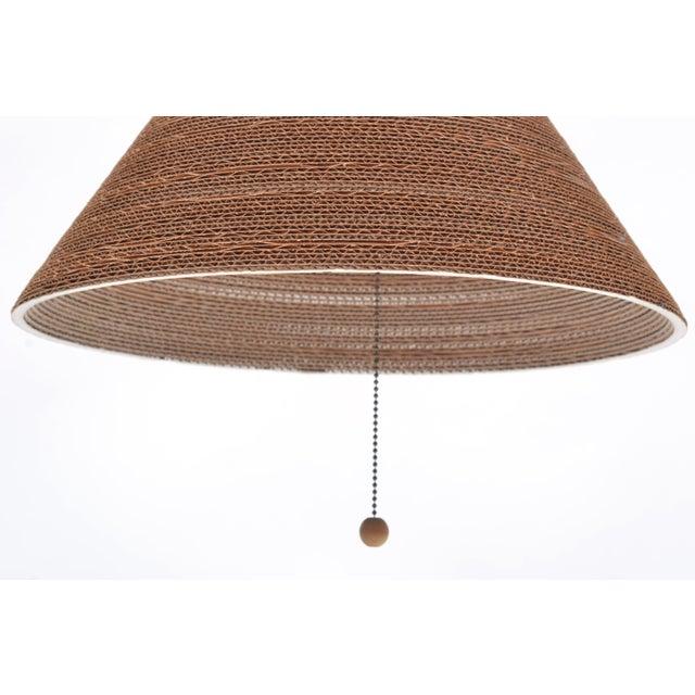 Gregory Van Pelt Corragated Cardboard Hanging Light For Sale In Austin - Image 6 of 9