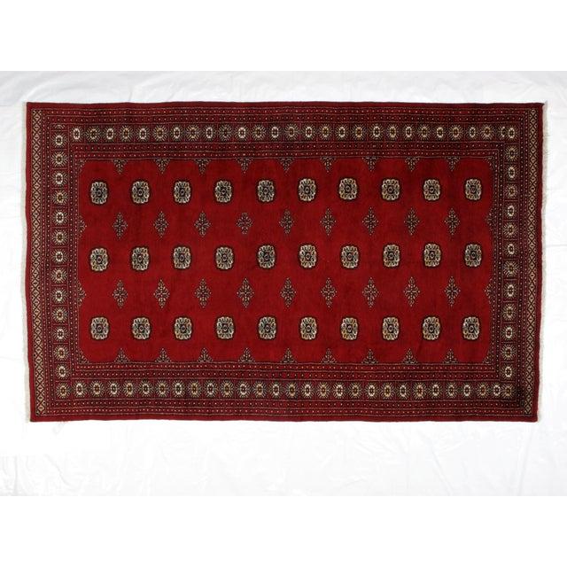 "Islamic Leon Banilivi Royal Bokara Carpet - 6'2"" X 9'8"" For Sale - Image 3 of 6"