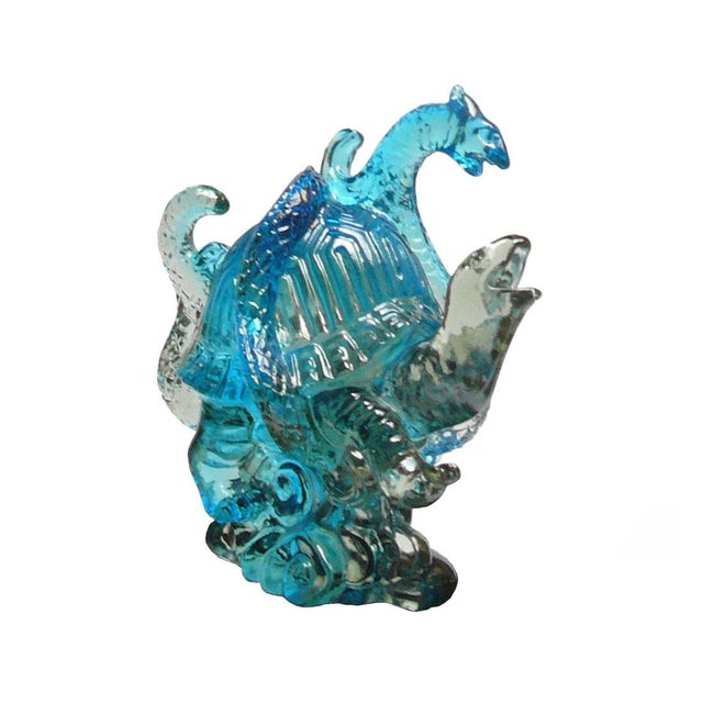 This is a Chinese Fengshui longevity turtle figure statue. Turtle is considered lucky animal for healthy life and...