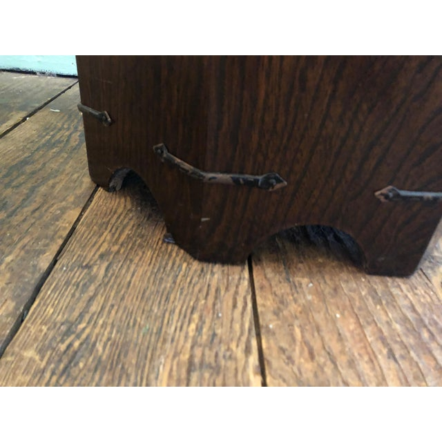 1950s Asian Dark Wood Octagonal Chest/End Table For Sale - Image 9 of 12
