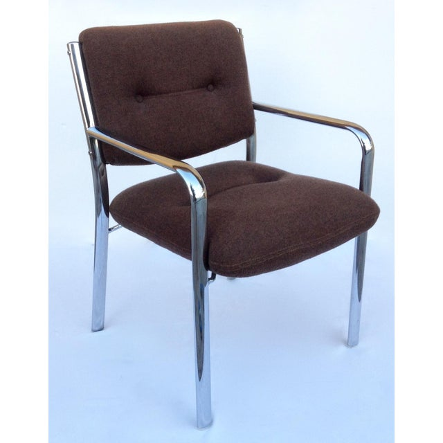 Mid-Century ChromCraft Chrome Arm Chair For Sale - Image 11 of 11