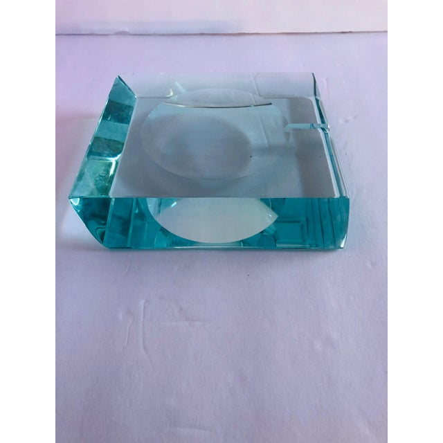 Transparent Beveled Glass Ashtray by Fontana Arte For Sale - Image 8 of 12