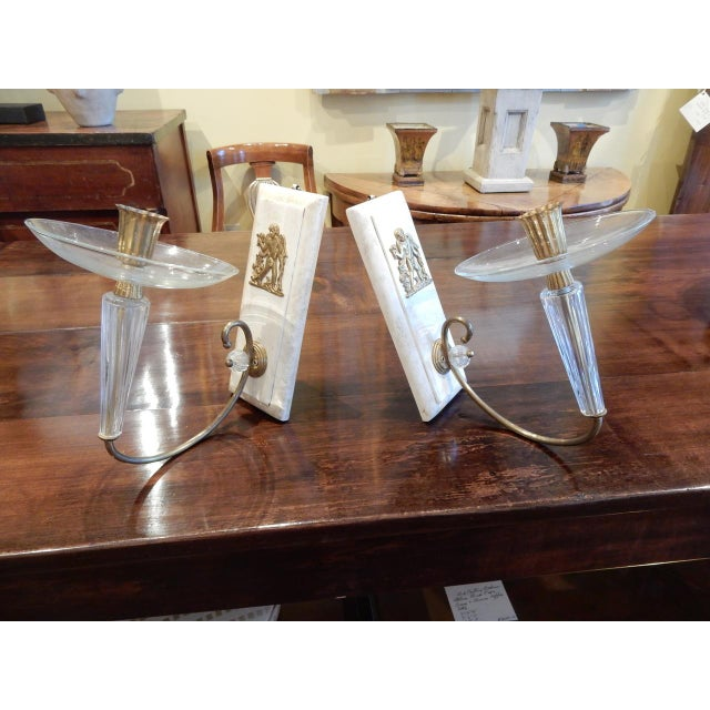Pair of Art Deco Wall Sconces For Sale In New Orleans - Image 6 of 7