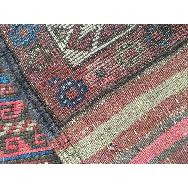 "Antique Tribal Rug 6'10"" X 3'5"" - Image 7 of 8"