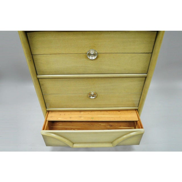 Gilbert Rohde Vintage Tri-Bond Mid Century Modern Bone Dresser Chest Art Deco Gilbert Rohde Era For Sale - Image 4 of 11