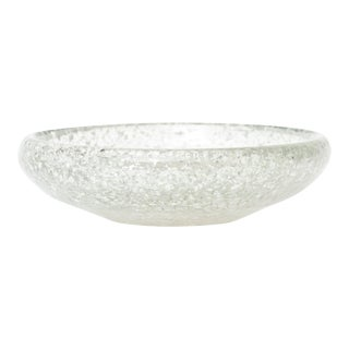 Murano Glass Bowl With Silver Foil Aventurine Attributed to Seguso For Sale