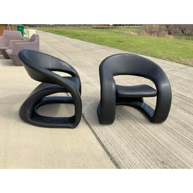 Tongue Lounge Chair mid-century modern funky ribbon like lounge chair in the style of Louis Durot and Pierre Paulin. Made...