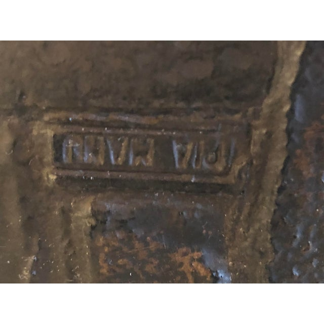 Brutalist Vintage Brutalist Signed Pia Manu Sculpted Ceramic Slate Sideboard Buffet Credenza For Sale - Image 3 of 13