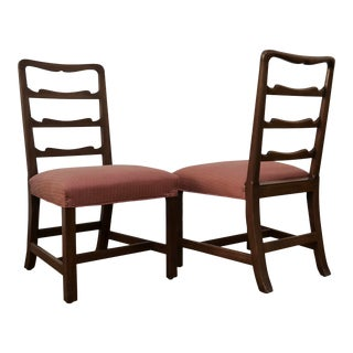 Mid Century Ladder Back Chairs by Kittinger - a Pair For Sale