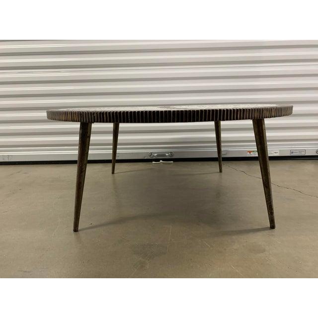 Metal Vintage Mid-Century Modern Tile Coffee Table For Sale - Image 7 of 10