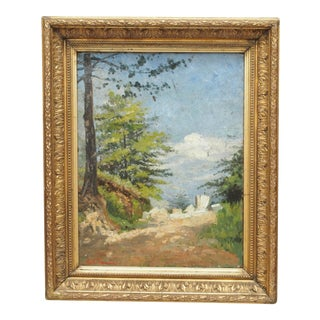 Oil on Canvas Landscape in a period frame For Sale