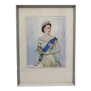 1953 Coronation of Queen Elizabeth Print For Sale