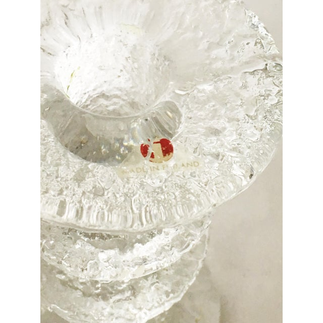 Mid-Century Modern Ittala of Finland Timo Sarpeneva Glass Candle Holders - A Pair For Sale - Image 3 of 6