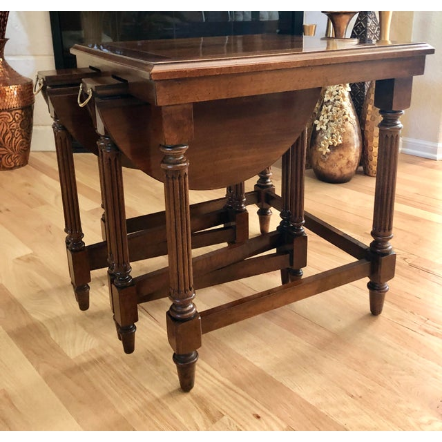 Mission Traditional Gordon's Fine Furniture Nest of Tables - Set of 3 For Sale - Image 3 of 13