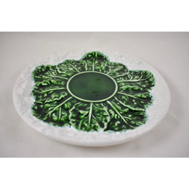 Bordallo Pinheiro C. Rainha Portuguese Cauliflower Plate For Sale - Image 4 of 9