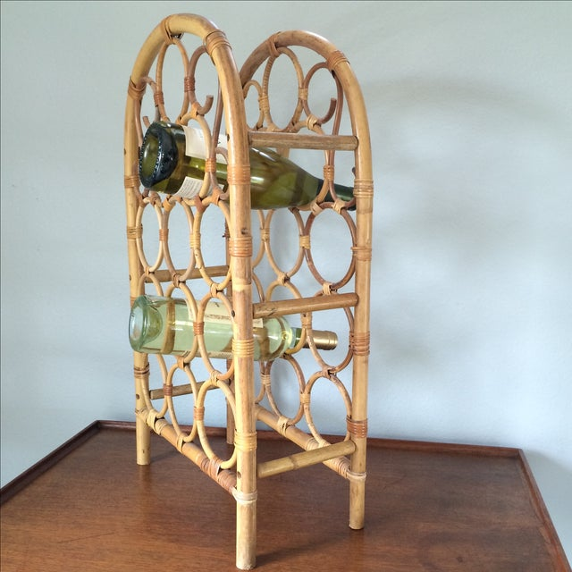 Vintage Bamboo Wine Rack - Image 11 of 11