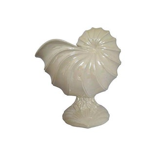 1980s Nautilus Shell Flower Pot or Centerpiece For Sale
