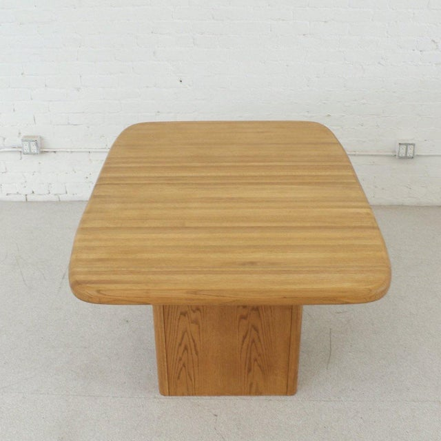 1960s Solid Oak Boho Restored Dining Table For Sale - Image 5 of 8