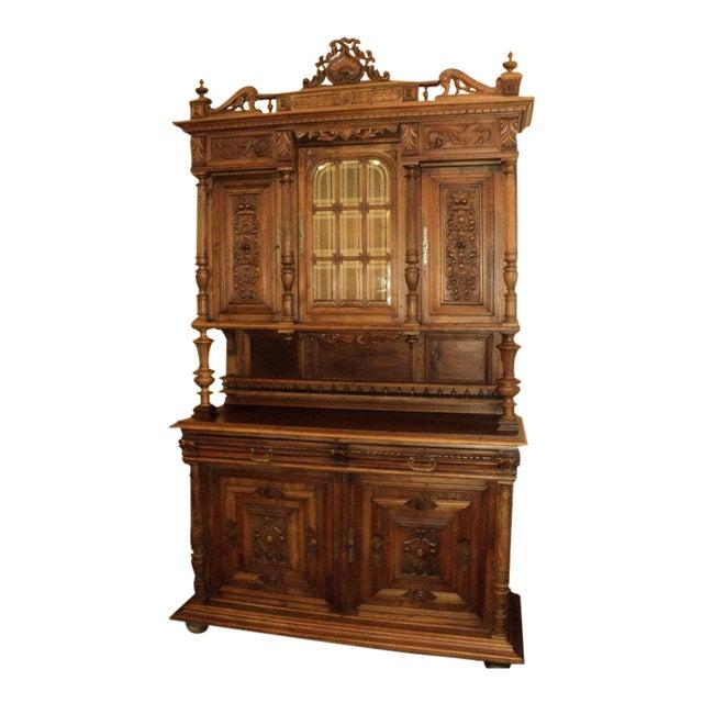 Antique Walnut Court Cabinet Cupboard - Image 1 of 7