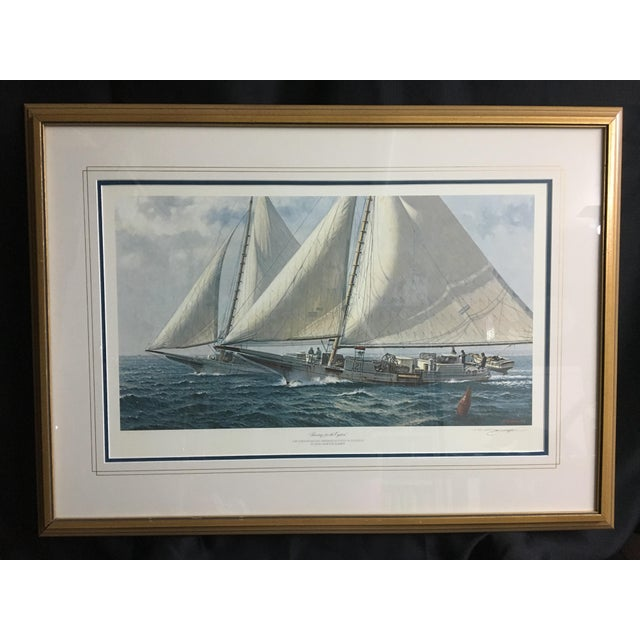 """Racing for the Oysters"" Nautical Print - Image 2 of 5"
