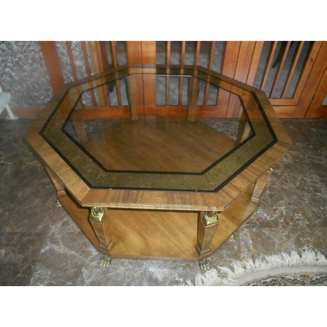 1960s Vintage Baker Furniture Egyptian Revival Octagon