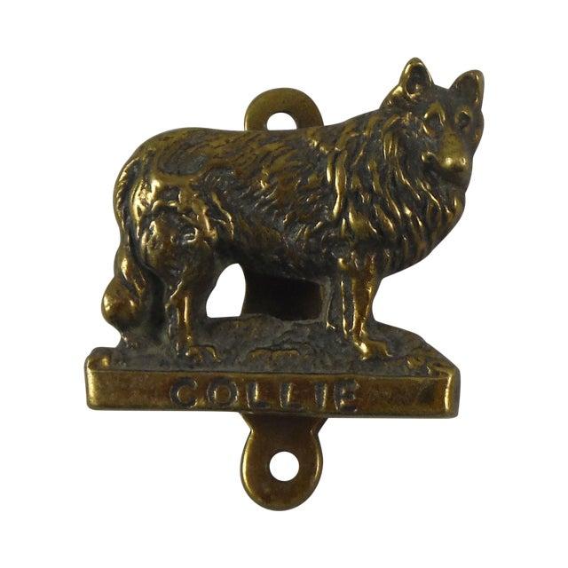 Brass Collie Dog Door Knocker - Image 1 of 4