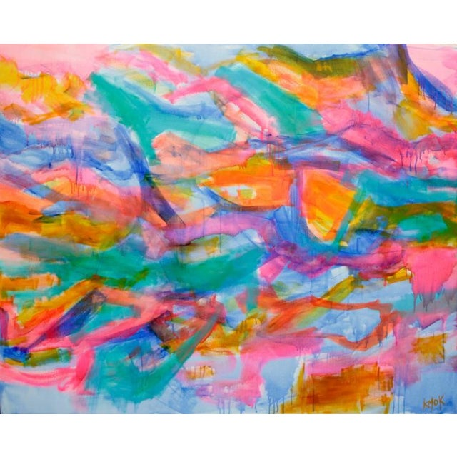 Abstract 'Sheer Joy' Abstract Painting For Sale - Image 3 of 4