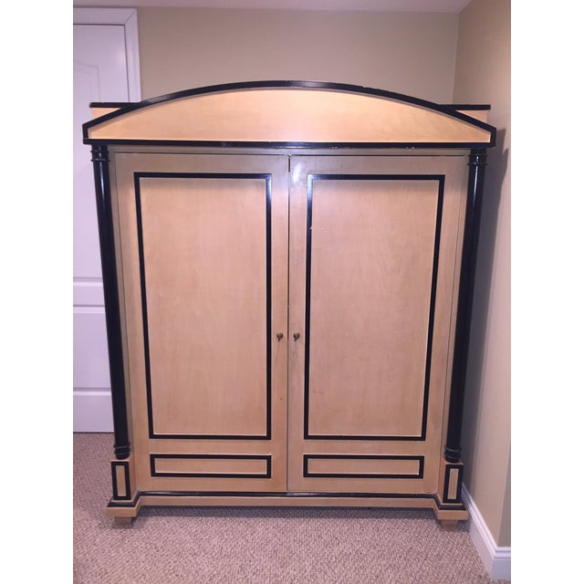 art deco oak armoire chairish. Black Bedroom Furniture Sets. Home Design Ideas