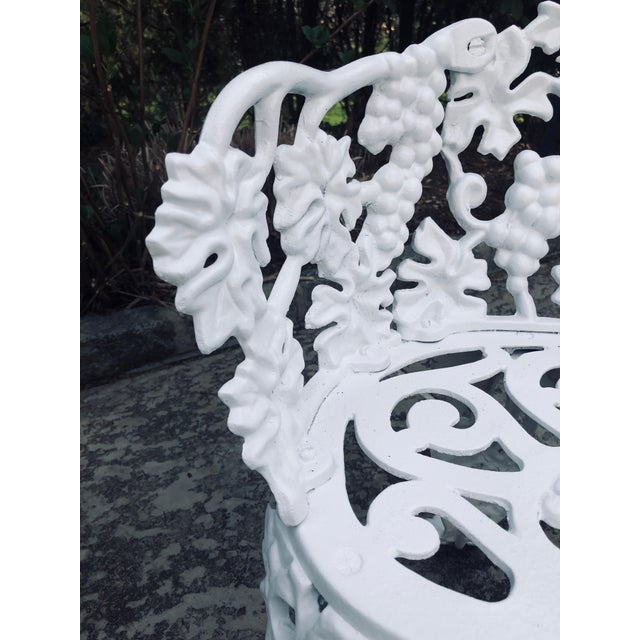 Cast Iron Antique Victorian Cast Iron Garden Bench & Chair For Sale - Image 7 of 12