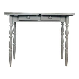 1950s Vintage Gray Vanity Desk For Sale