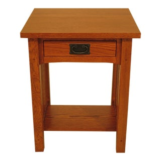 1990s Arts & Crafts 1-Drawer Nightstand For Sale