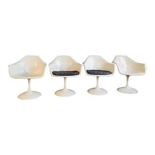 Mid-Century Modern Arthur Umanoff Shell Tulip Arm Chairs - Set of 4 For Sale