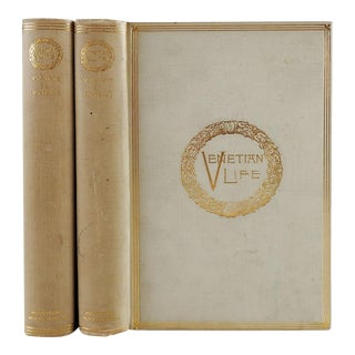 Venetian Life 1892 Illustrated - a Pair For Sale